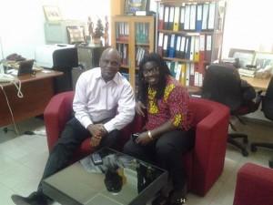 Ipas Country Director Dr Koma Jehu-Appiah and MUSIGA President Bice Osei Kuffour aka Obour