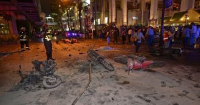 Police say 3kg of TNT was used in the blast.