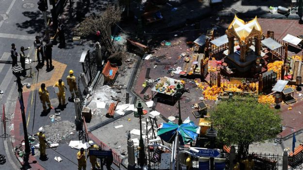 Authorities believe the bomb was targeting foreign tourists - but most of the dead and injured are Thai.