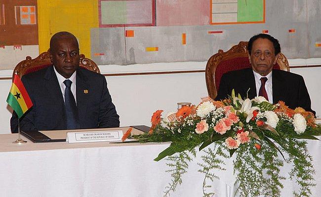 President Mahama held talks with Prime Minister, Sir Anerood Jugnauth.