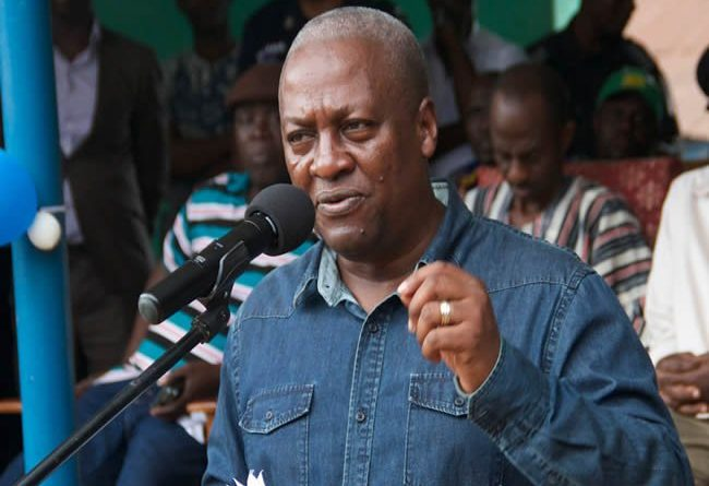 President John Dramani Mahama Addressing Party Supporters in Upper East