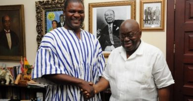 Nana Addo in a shot with the NPP's Odododiodio parliamentary candidate for 2016 Nii Lante Bannerman.