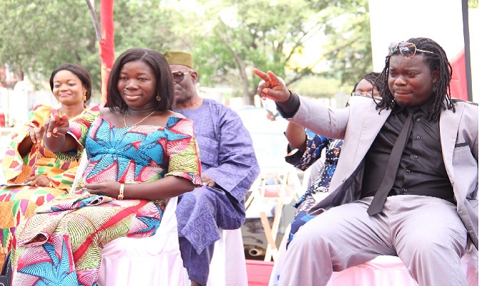 Musiga President Obuor with the Minister for Tourism and Culture.