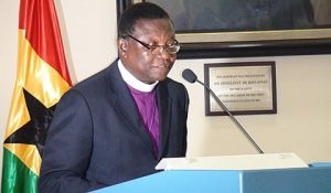 Most Rev Prof Emmanuel Kwaku Asante, Presiding Bishop of the Methodist Church .
