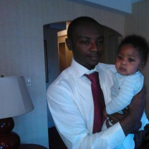 The late Samuel Nuamah and his 2 year old daughter.
