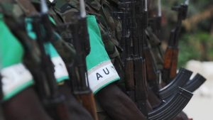 The African Union has about 21,000 troops in the country helping the government fight al-Shabab.