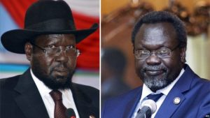 President Salva Kiir (l) did not sign the deal, despite a deadline and the threat of sanctions.