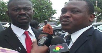 UFP Gen. Secretary Listowell Kusi Poku, and his lawyer (R)Oliver Atsu Abada.