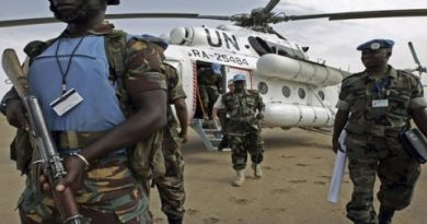 Just over 10,000 UN peacekeepers are currently serving in the Central African Republic.