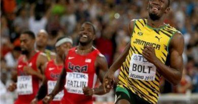 Usain Bolt won the 100m final in 9.79sg.