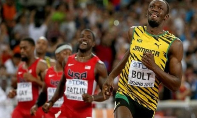 Usain Bolt won the 100m final in 9.79sg.