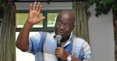 Nana Akufo Addo flagbearer of the opposition New Patriotic Party (NPP)