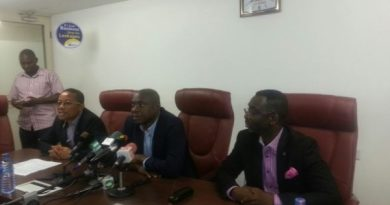 Officials of ECG Addressing a News Comference