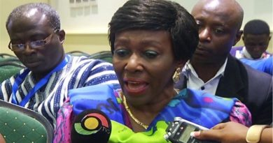 Nana Konadu was at the venue as NDP made a presentation on Friday