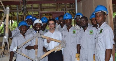 British High Commissioner John Bengamin in Picture with Bamboo bike inventor
