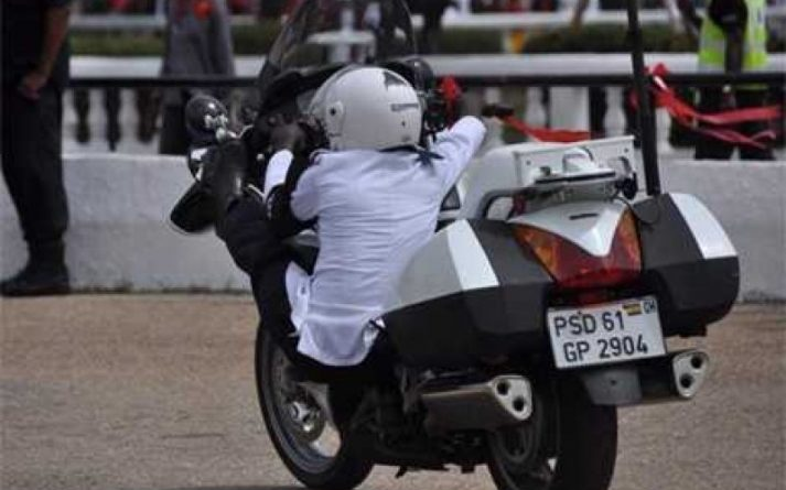 Ghana Police Dispatch Rider Picture Source: Graphic