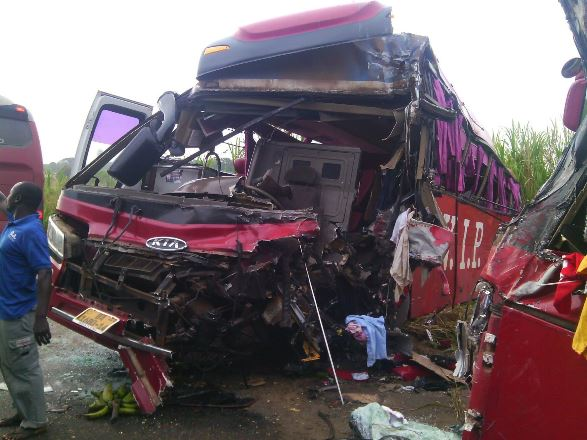 Four feared dead in Accra-Kumasi High way accident/Picture by Kojo Ansah