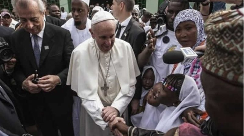 Pope Francis said Christians and Muslims should turn their back on revenge and hatred