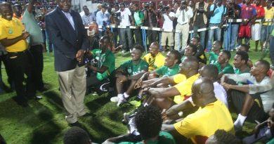 Asantehene Otumfuo Osei Tutu II interacting with Black Stars