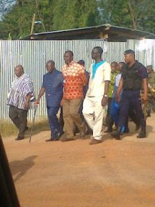 Asantehene( with stick) on inspection