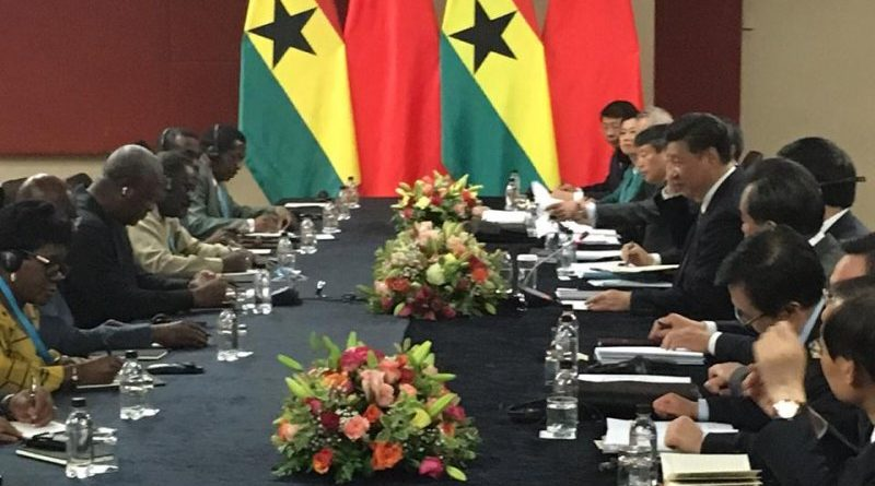 Mahama holding talks with the Chinese delegation in South Africa
