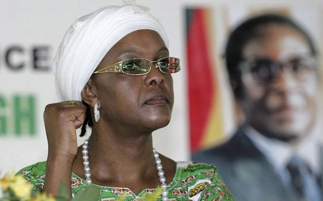 Grace Mugabe and  husband President Robert Mugabe