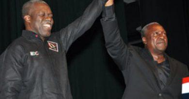 President John Mahama And His Running Mate Vice-President Kwesi Amissah-Arthur