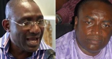 Suspended General Secretary Of NPP Kwabena Adjei Agyapong and Sammy Crabbe second Vice-Chairman