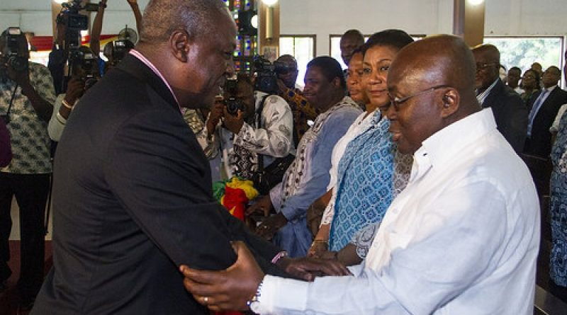 President John Mahama(left) and opposition leader Nana Akufo-Addo (right)
