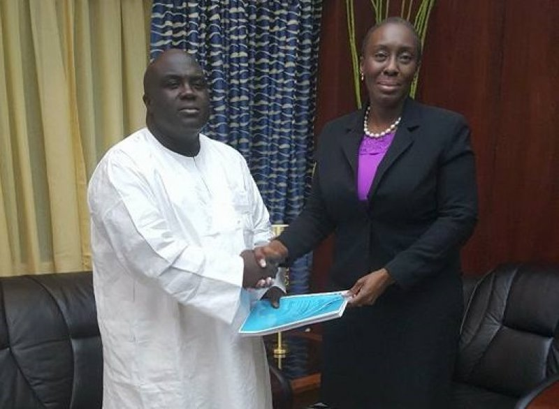 Chief of Staff Julius Debrah in (white) with Attorney General Mrs. Marietta Brew Appiah-Opong