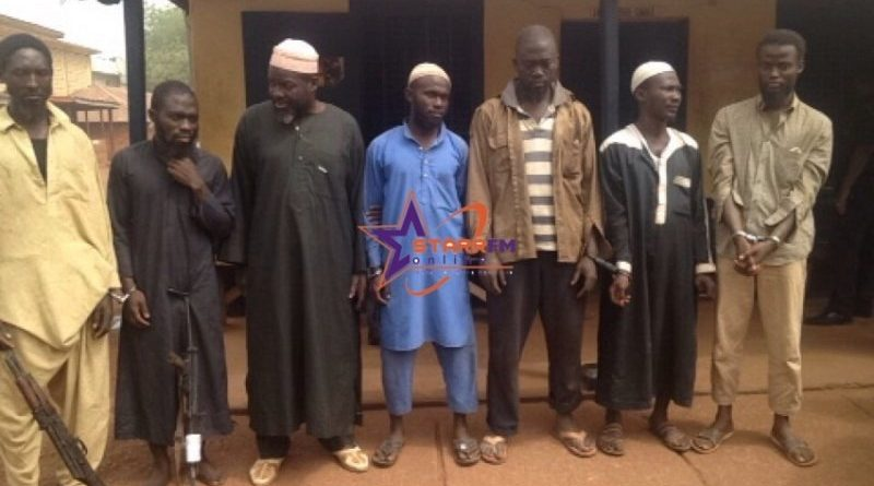 The seven arrested persons