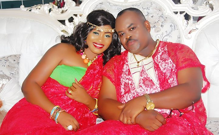 Nollywood actor, Solomon Akiyesi and New Wife Uloma Agwu