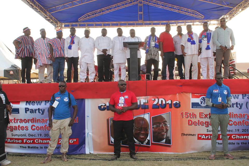 NPP's National Campaign Team  For 2016 General Elections