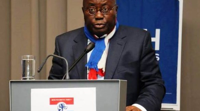 Flagbearer Of The New Patriotic Party (NPP), Nana Akufo-Addo