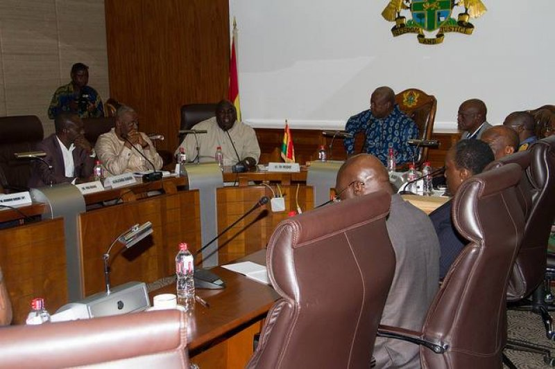 President John Mahama and members of cabinet