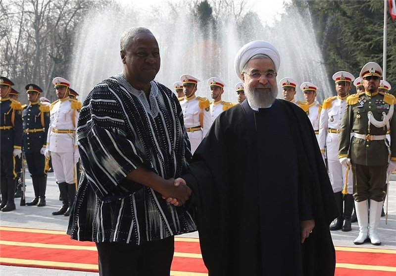 Mahama and Iranian President Hassan Rouhani in Tasnim