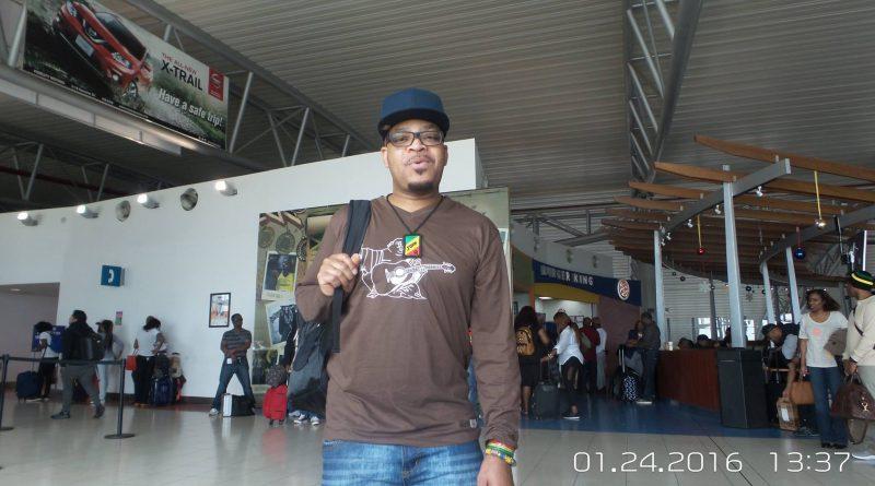 John Q at the Kingston Airport. Photo Courtesy: John Q