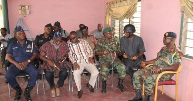 Members of the Ashanti regional security council at Old Tafo Chief Palace in Kumasi