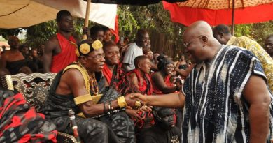 Akufo-Addo Exchanging Pleasantries With The Paramount Chief Of Suma Traditional Area