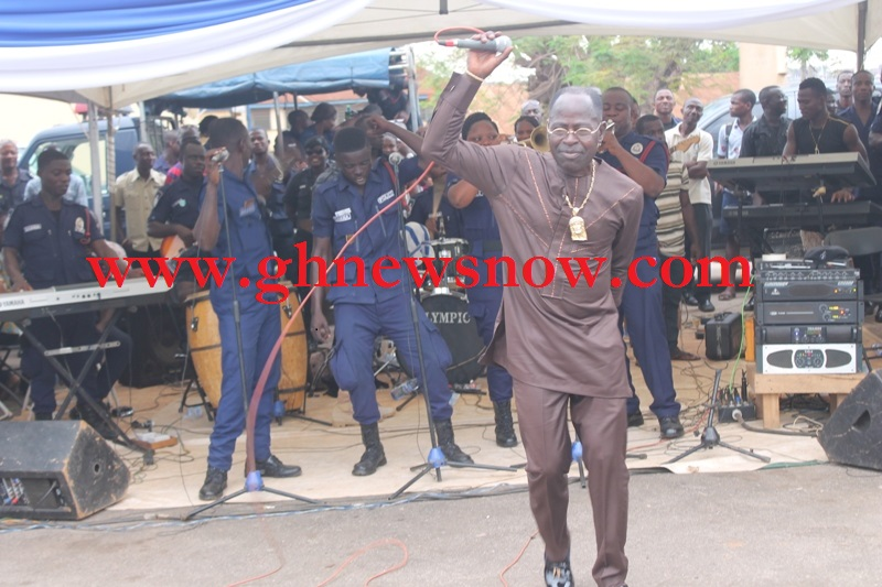 Amakye Dede Performing live with Police Band