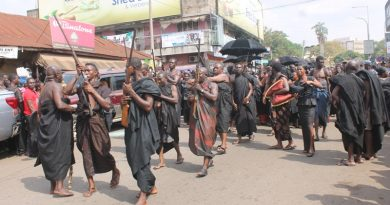 Arrival of Asantehene Otumfuo Osei Tutu II at Bantama Hene's Funeral