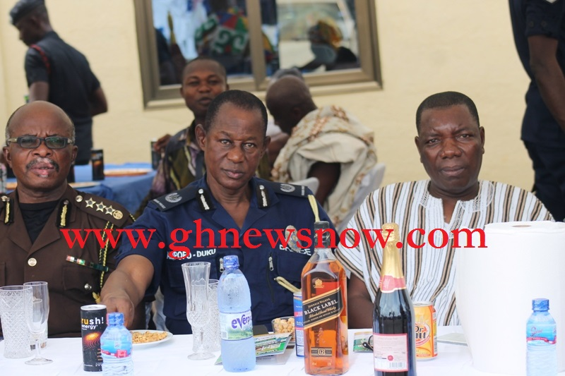 Ashanti Regional Prisons Director, Deputy Police Commander and BNI Commander In Picture