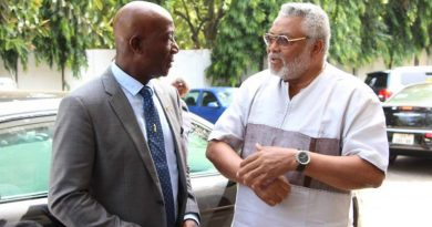 Former President Rawlings and Dr. Rowley, Prime minister of Trinidad and Tobago