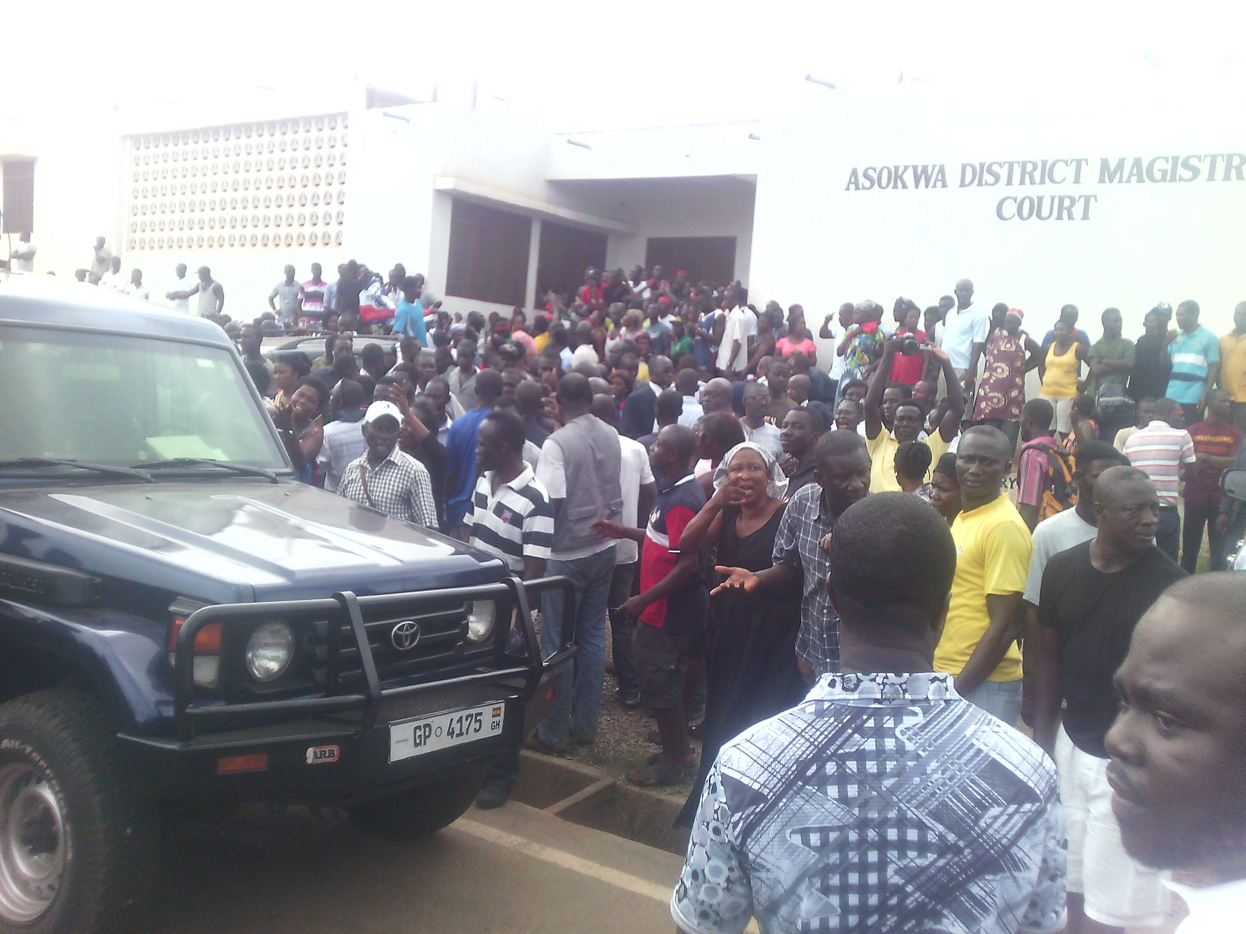 New Patriotic Party Supporters In Ashanti Region at Kumasi Magistrate Court.