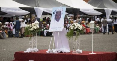 Photos: Final Funeral Rites For Mahama's Mother