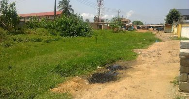 Another portion of the immotorable OS Adam Avenue at Ashaiman Newtown