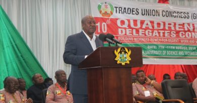 President John Dramani Mahama Addressing Members Of The Trade Union Congress In Kumasi