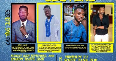 AUDITIONS: 2018 Edition Of Kumasi Men's Fashion Week (KMFW) Auditions Slated For 16th September.