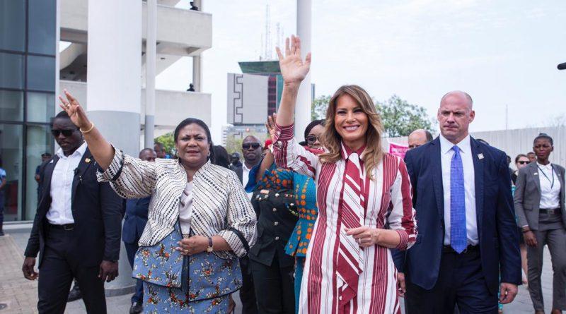 Photos: US First Lady Melania Trump In Ghana
