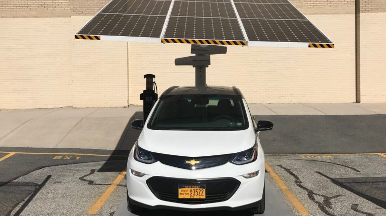 New York City Deploys America's Largest Network of Solar-Powered Electric Vehicle Chargers